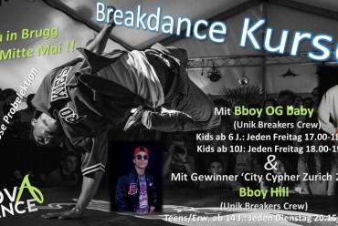 !!! Neu: Breakdance Kurse ab Mitte Mai mit den Hernandez Brothers von der Unik Breakers Crew !!!