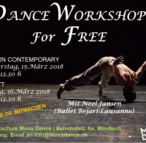 Dance Workshop for Free – Contemporary