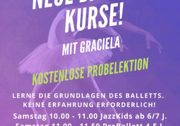 «Neue Ballett-Kurse mit Graciela !!!»